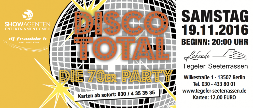 DISCO TOTAL - Die 70er Party